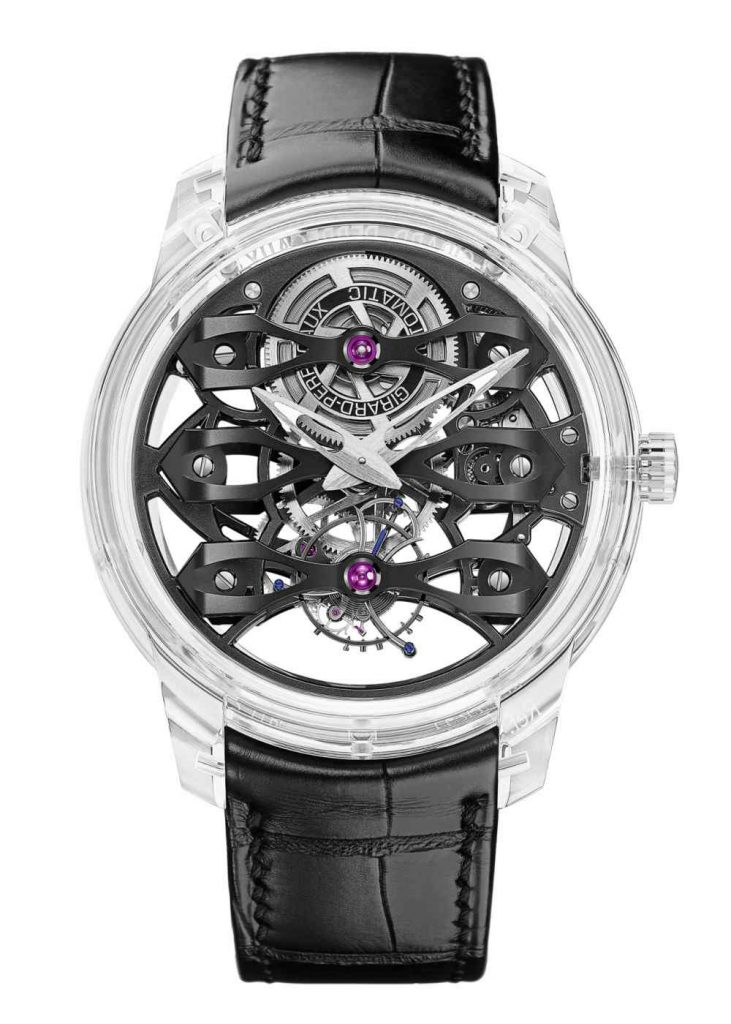 Girard Perregaux Quesar Isolated 731x1024 - 镂空三桥陀飞轮璀璨登场:Girard-Perregaux Quasar