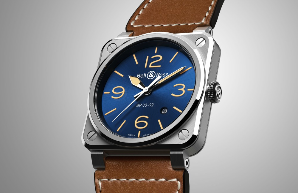 Watch BR03 92 Bell Ross Blue Golden - 情忆旧时光:BELL & ROSS  Blue Golden Heritage