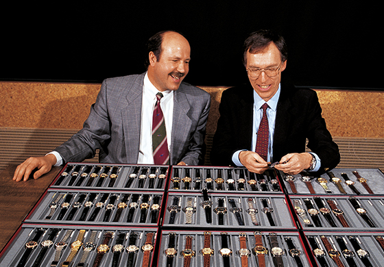 Oris History 1982 Mr Herzog and Dr Portmann - K's Talk:源远流长之表,细数Oris的15个重要时刻