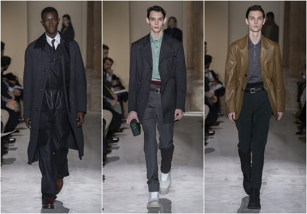 Salvatore Ferragamo fall winter 2019 menswear blazer - Salvatore Ferragamo 秋冬'19:经典与粗犷的对话