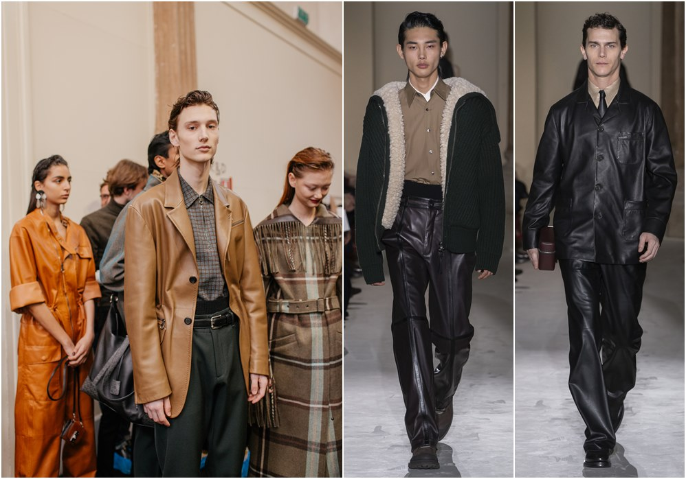Salvatore Ferragamo fall winter 2019 menswear leather jacket - Salvatore Ferragamo 秋冬'19:经典与粗犷的对话