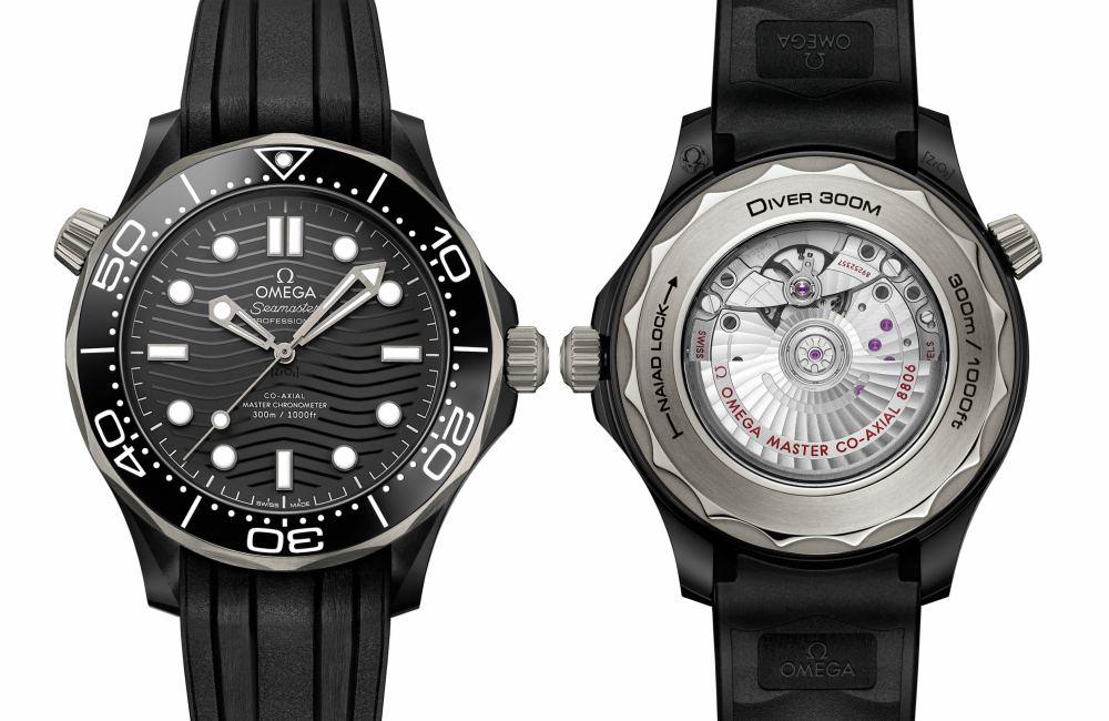 Seamaster 300m OMEGA Titanium front and back - 黑陶瓷钛圈43mm海马:Seamaster Diver 300m Titanium