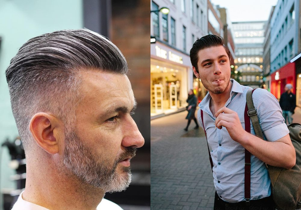 mens slick back hair street style - 如何打造帅酷 Slick Back 发型?