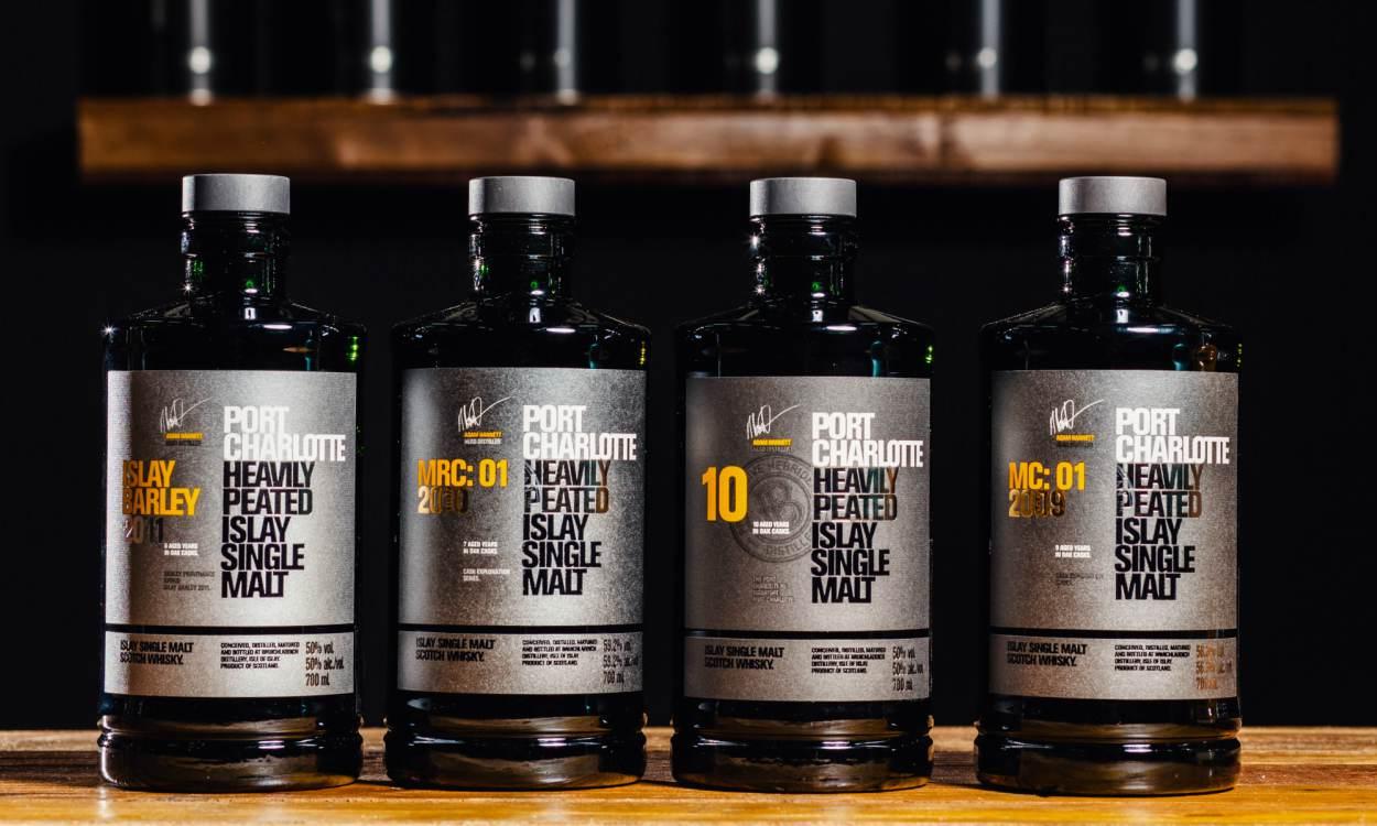 Port Charlotte Islay Single Malt cover - 一跃而成的网红级酒款:Port Charlotte 10年份威士忌