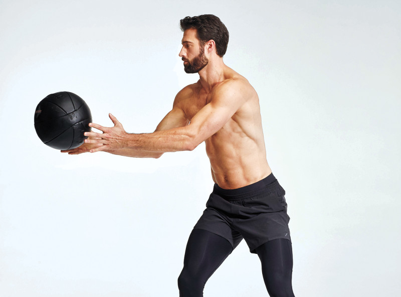 abs workout Anti Rotation Med Ball Toss - 6组终极锻炼 打造立体腹肌