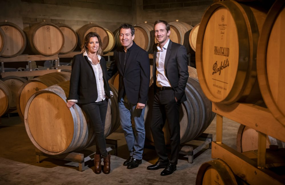 Penfolds x Thienot Champagne Garance Thienot Peter Gago and Stanislas Thienot in Barrel Room - 纪念非凡175周年:Penfolds x Thiėnot 珍藏版香槟
