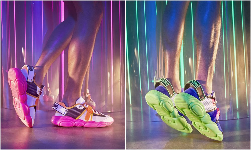 moschino FLUO TEDDY sneakers details - 跳脱出位!Moschino Fluo Teddy 球鞋换上霓虹色彩