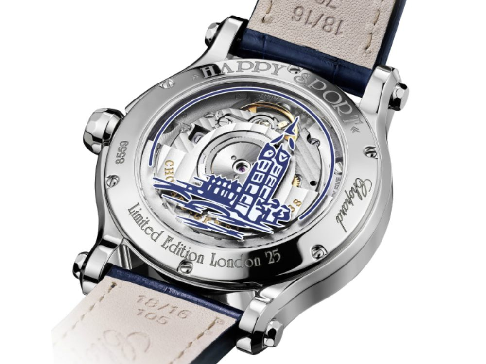 Chopard Happy Sport London Edition Back Case - CHOPARD Happy Sport London Edition 伦敦限量版腕表