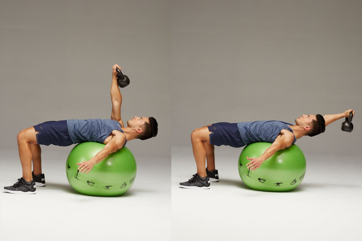Kettlebell Pullover - Stability Ball Workout 改善弱点、加强平衡