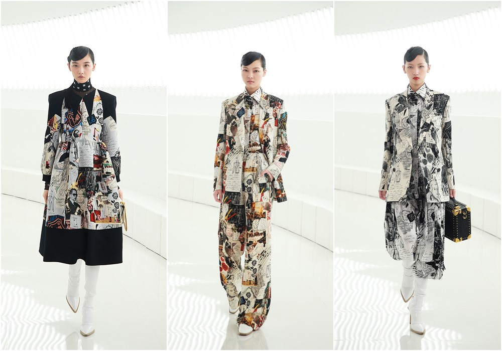 fendi shanghai fashion show women prints dress - FENDI 男女时尚秀移师上海