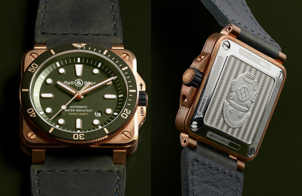 Bell Ross BR03 Dive Green Bronze Details - 青铜版潜水逸品:BELL & ROSS BR03-92 Green Bronze