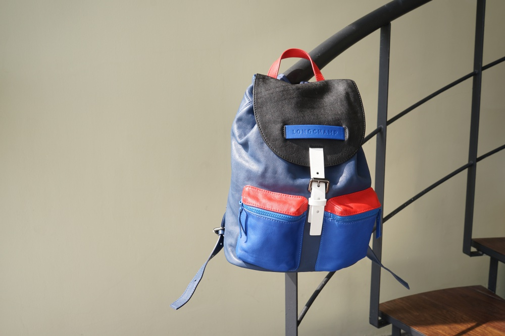 Longchamp 3D colorblock backpack - K's Style: 5款高分男士后背包