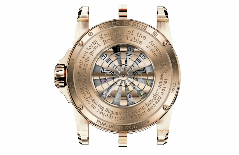 Roger Dubuis Timeless Chivalry – Excalibur Knights of the Round Table IV Backcase - 传承永恒的骑士精神:RD Timeless Chivalry 骑士腕表