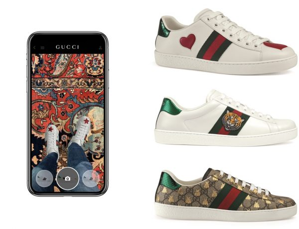 gucci app ar try on ace sneakers 600x460 - Gucci App 让你用手机试鞋!