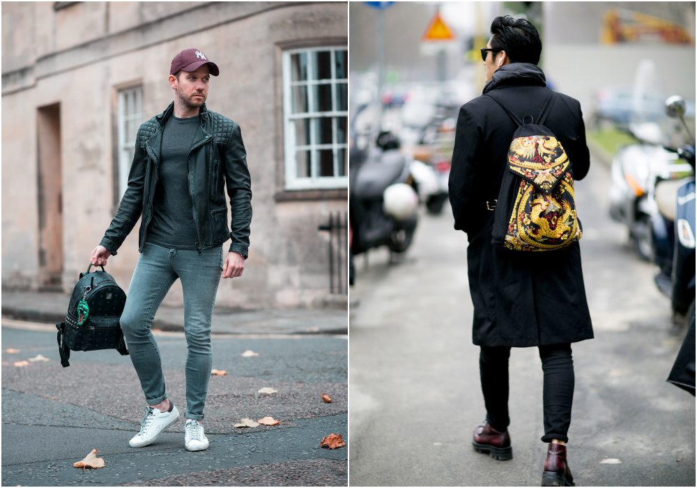 mens backpack fashion street style  - K's Style: 5款高分男士后背包