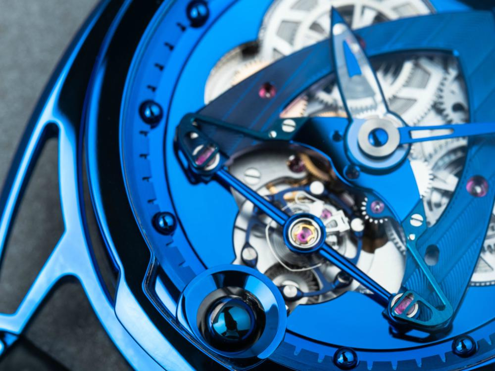 DE BETHUNE DB28 STEEL WHEELS BLUE THE HOUR GLASSS 40TH ANNIVERSARY Dial - 纪念THG 40周年:De Bethune DB28 Steel Wheels Blue