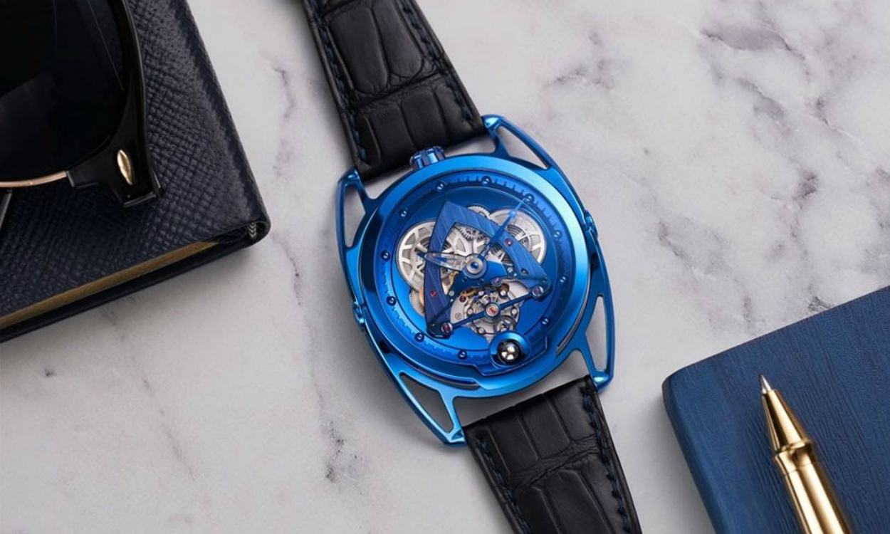 DE BETHUNE DB28 STEEL WHEELS BLUE THE HOUR GLASSS 40TH ANNIVERSARY cover - 纪念THG 40周年:De Bethune DB28 Steel Wheels Blue