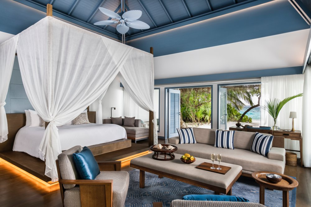 Beach Villa Bedroom ©Raffles Maldives Meradhoo - 毕生难忘的海岛之旅!入住 Raffles Maldives 五星酒店