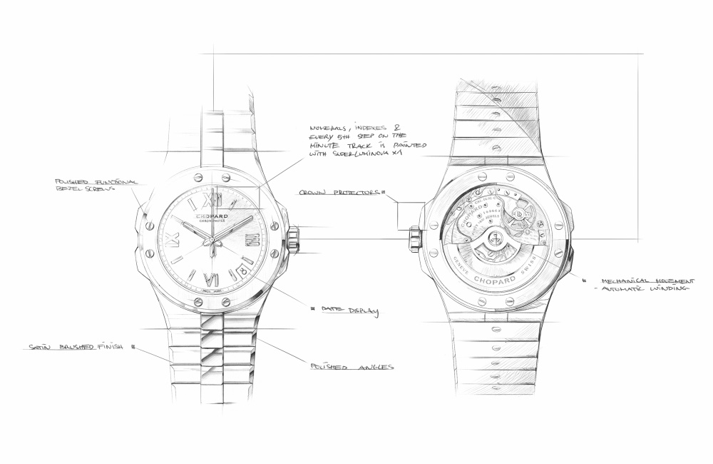 Watchwatches Chopard Alpine Eagle Sketches - 承家族特色 延经典设计:CHOPARD ALPINE EAGLE