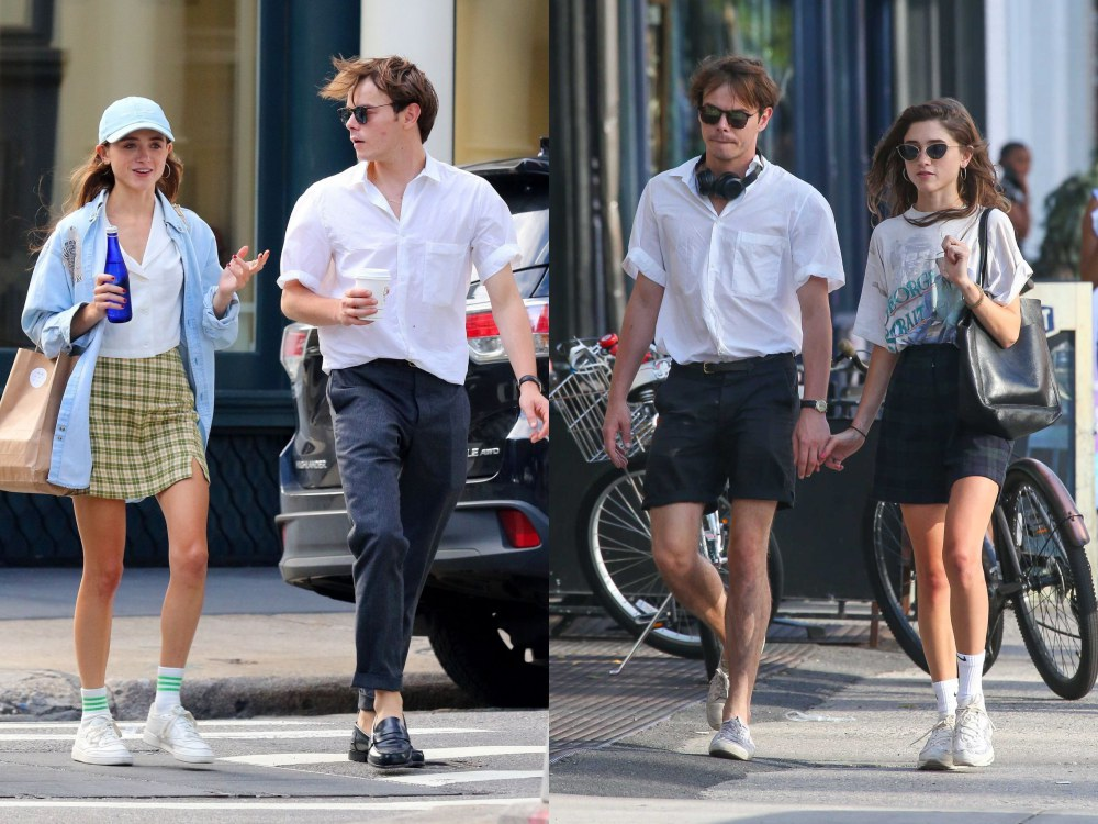 best couple style Charlie Heaton and Natalia Dyer white top - K's Style: The Best Couple Wear 时尚情侣应该这么穿!