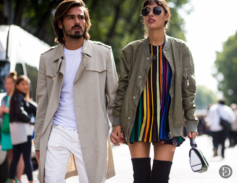 best couple style Patricia Manfield and Giotto Calendoli military - K's Style: The Best Couple Wear 时尚情侣应该这么穿!