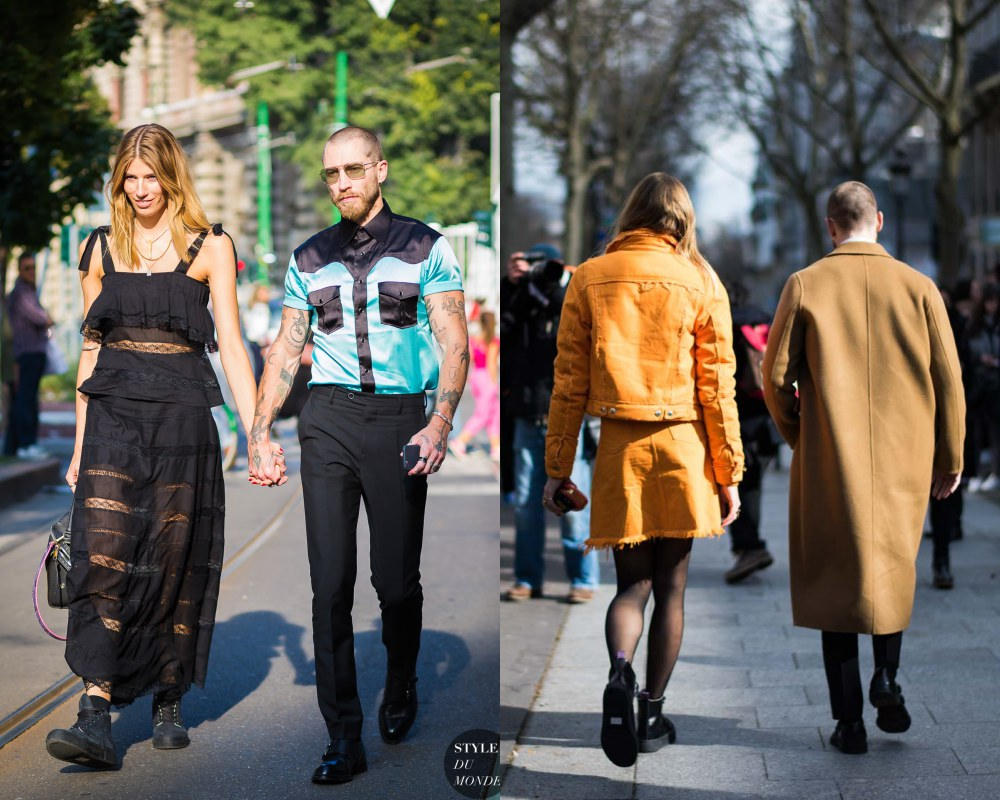 best couple style Veronika Heilbrunner and Justin Oshea camel color - K's Style: The Best Couple Wear 时尚情侣应该这么穿!