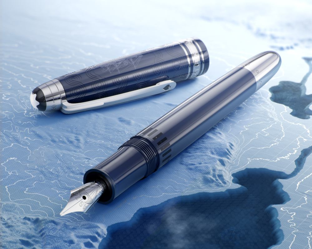 126199 Montblanc Meisterstück Around the World in 80 Days Resin Le Grand fountain pen 1 - Montblanc 致敬《环游世界八十天》先锋冒险精神