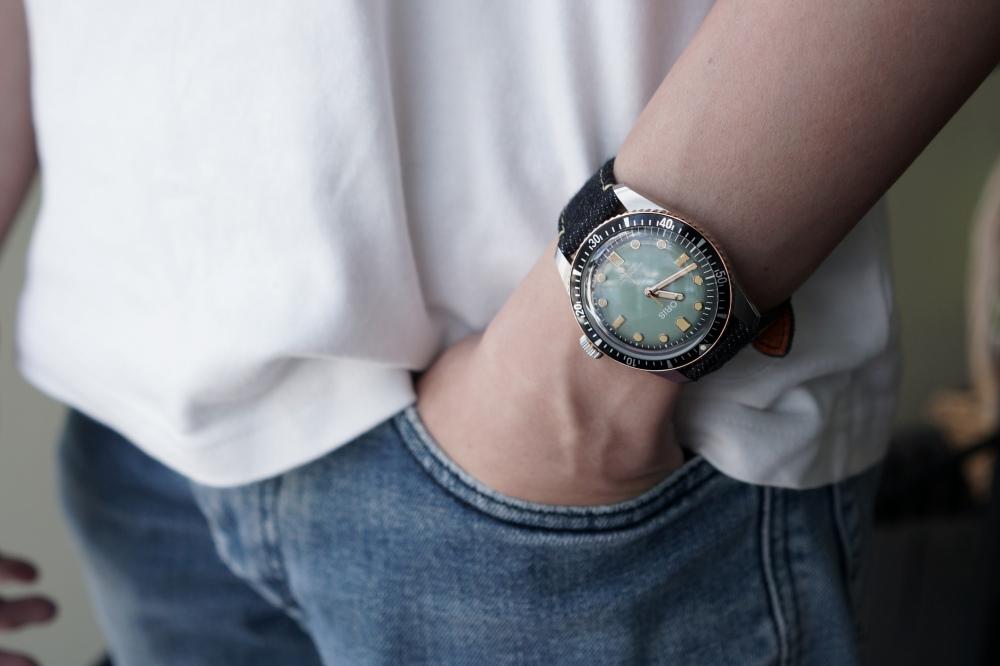 Oris x Momotaro watch editor review - [编辑试戴] 是牛仔表带!必收藏的 Oris x Momotaro 潜水表