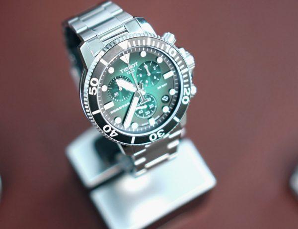 kingssleeve Tissot seastar 1000 greendail diving watch Cover 600x460 - 编辑试戴|超高性价比的 Tissot Seastar 1000 石英计时码表