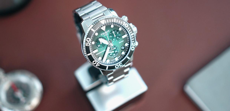 kingssleeve Tissot seastar 1000 greendail diving watch Cover - 编辑试戴|超高性价比的 Tissot Seastar 1000 石英计时码表