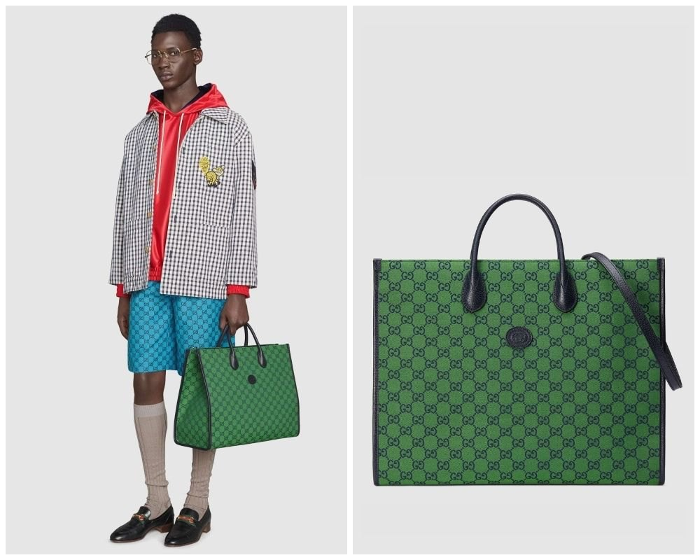 summer 2021 mens bag bright colours gucci multicolor tote bag - 别再低调!亮色系包袋才能完美展现你的个性
