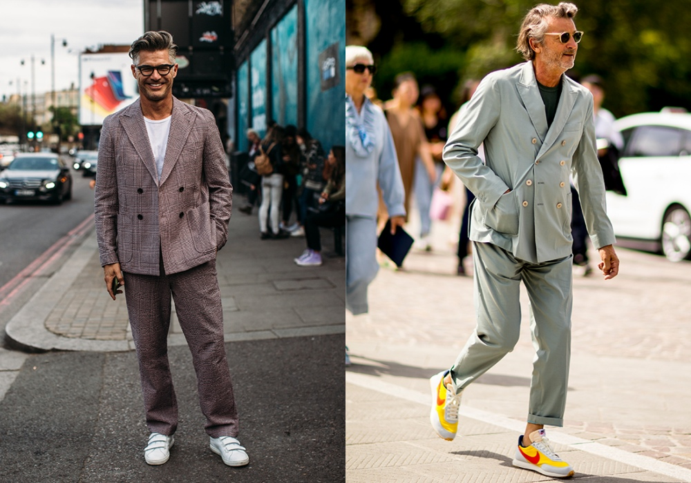 Men Suits with Sneakers smart - 搭配正装也合适的8款球鞋