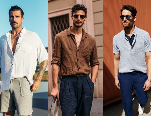 mens linen fashion style 600x460 - 自然系型男必备:Linen Shirt 棉麻衬衫