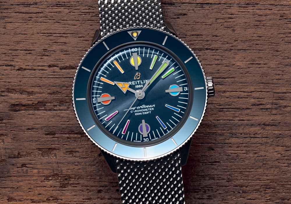 superocean heritage 57 003 - Breitling Superocean Heritage '57 彩虹腕表 - 用色彩点亮希望