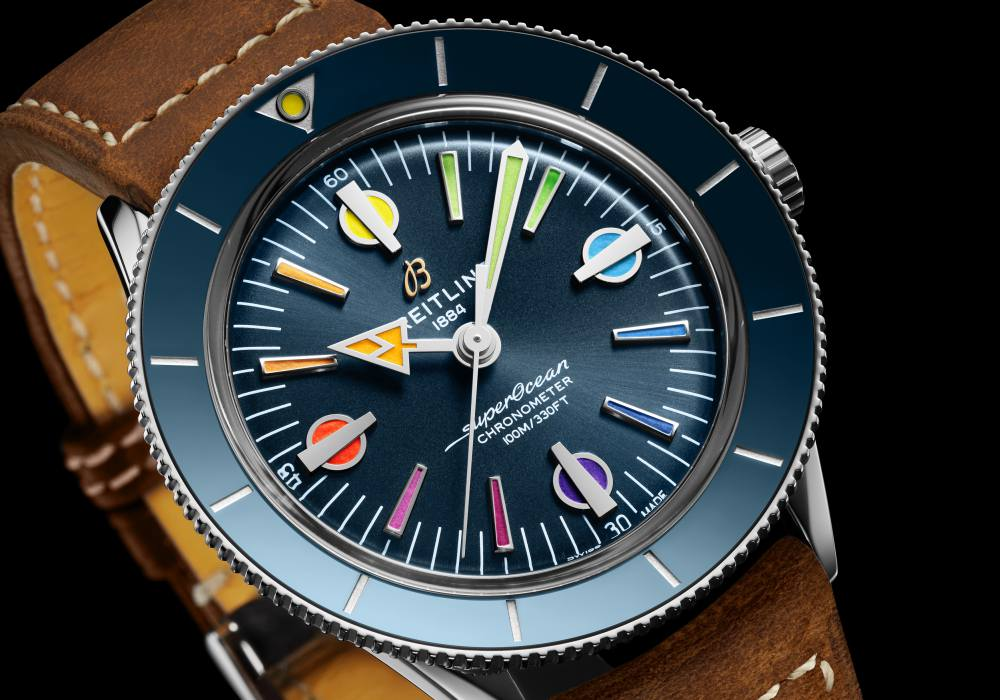 superocean heritage 57 005 - Breitling Superocean Heritage '57 彩虹腕表 - 用色彩点亮希望