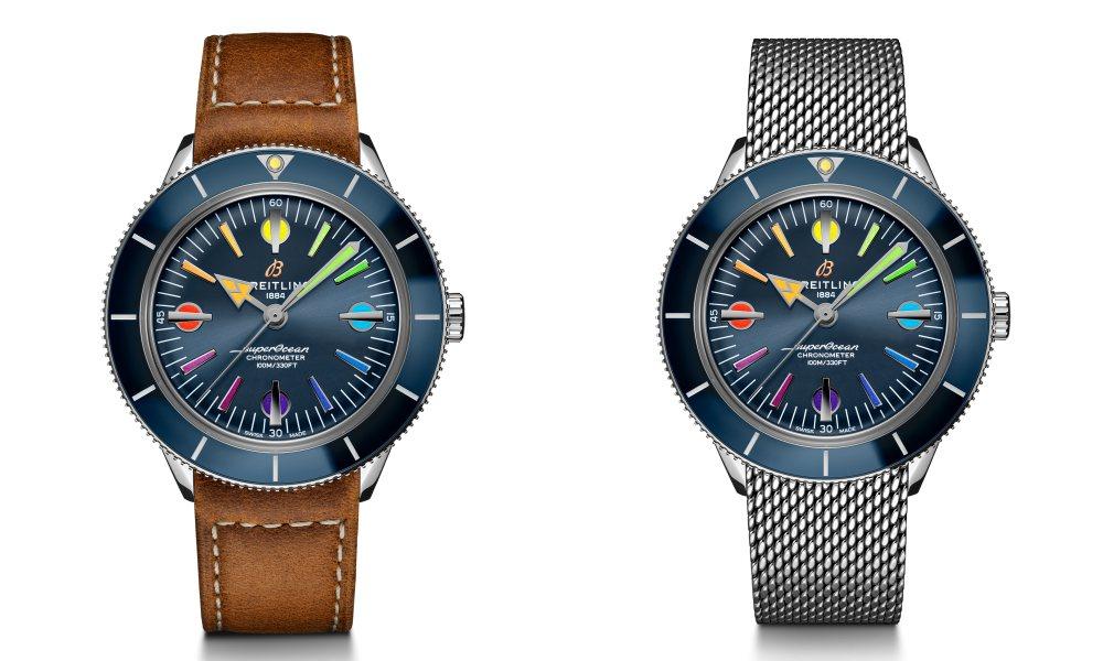 superocean heritage 57 006 - Breitling Superocean Heritage '57 彩虹腕表 - 用色彩点亮希望
