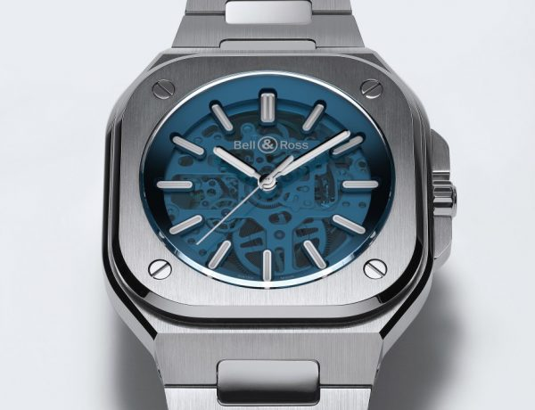 BellRoss BR05 blue skeleton 001 600x460 - 尽览机械机芯的迷人魅力: Bell & Ross BR05 Skeleton Blue