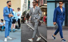 mens suit sneaker style 240x150 - 西装只能配皮鞋吗? 4个技巧教你西装搭球鞋