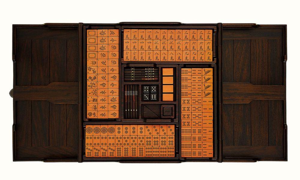 luxury mahjong sets hermes 001 - 该收藏还是派上用场? 奢华质感的精品麻将