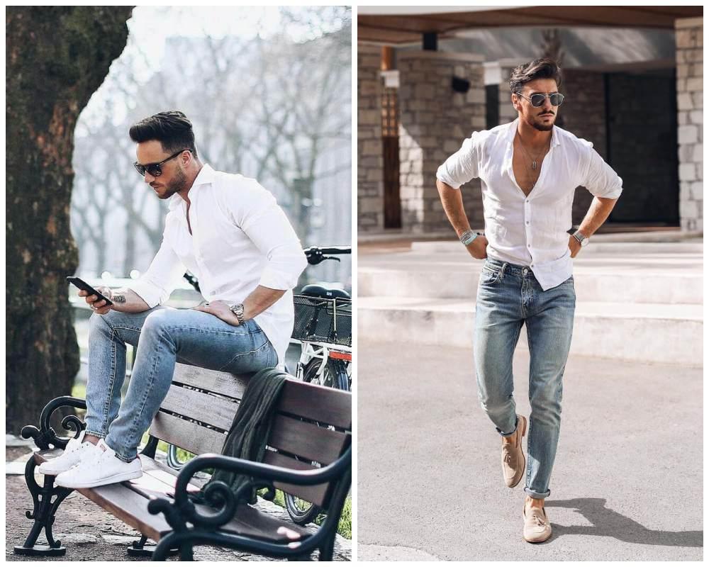 10 ways to style most versatile mens white shirt 004 - 懒人指南:5种白衬衫穿搭方式