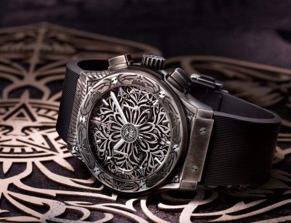 hublot classic fusion shepard fairey chronograph 001 600x460 - Hublot x Shepard Fairey 再创文化相融的时计艺术品