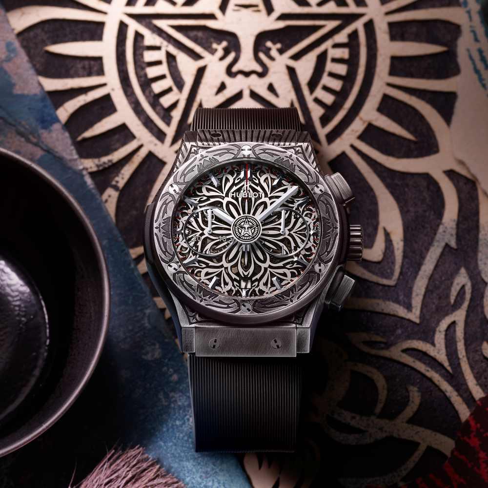 hublot classic fusion shepard fairey chronograph 003 - Hublot x Shepard Fairey 再创文化相融的时计艺术品