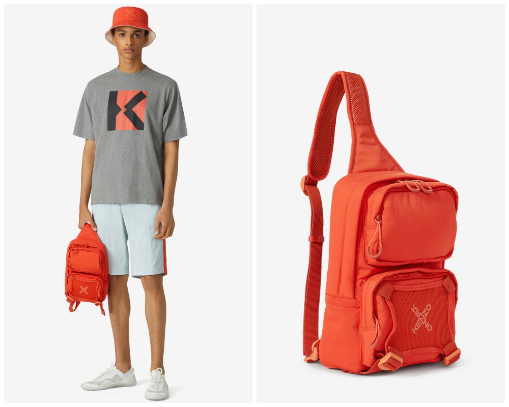 summer 2021 mens bag bright colours kenzo sport backpack with strap - 别再低调!亮色系包袋才能完美展现你的个性