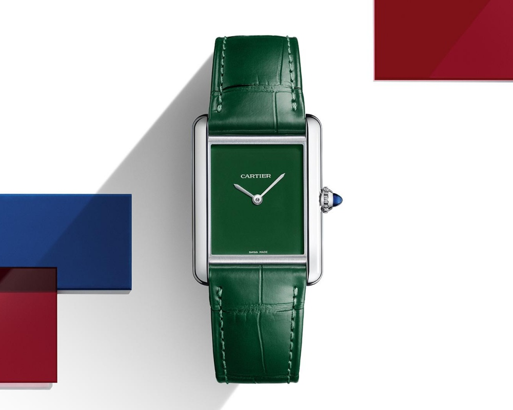 watches wonders 2021 green is the new watch trend cartier tank must - Watches & Wonders 2021|年度表坛流行色