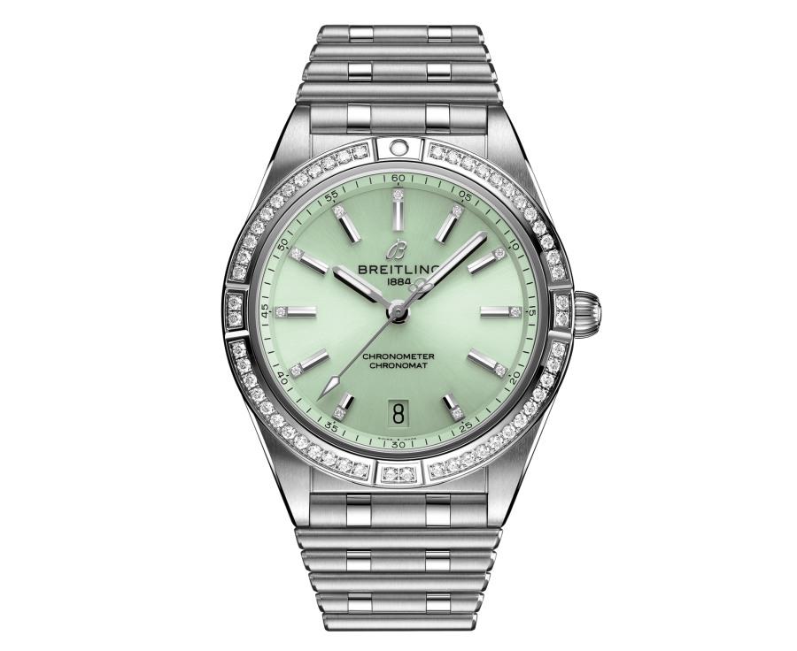2021 mothers day gift lists breitling chronomat 36 mint green 1 - 母亲节送礼:妈妈很想要却不舍得自掏腰包的礼物清单!