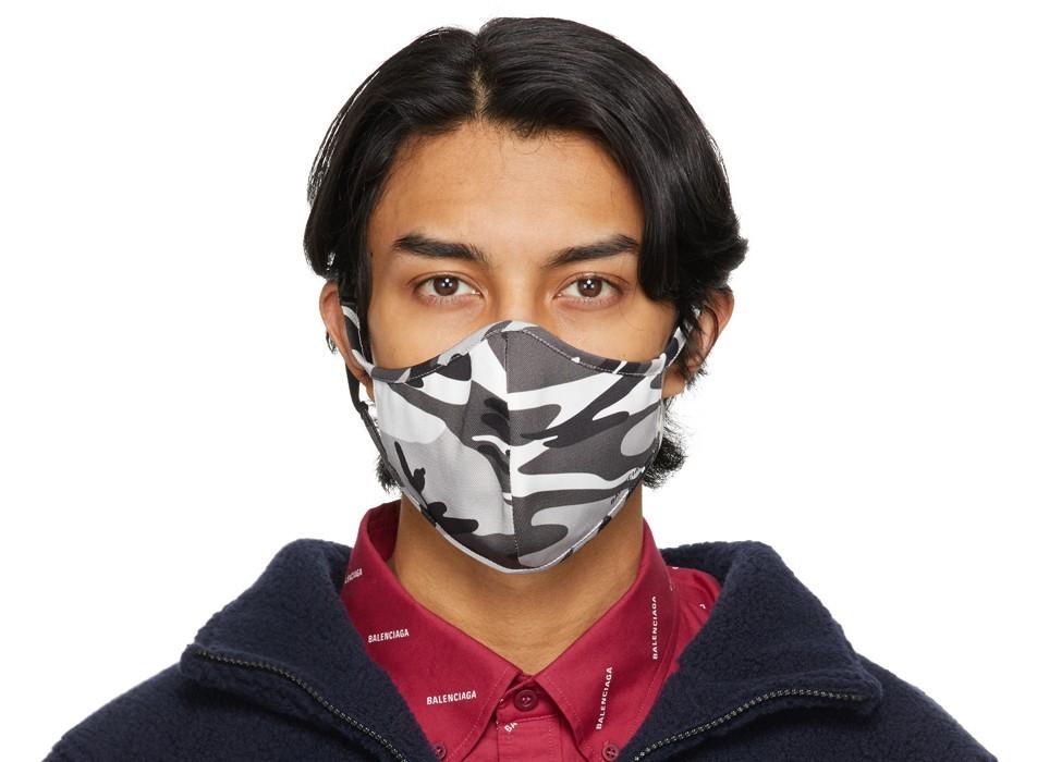mens fashion accesories face mask balenciaga camo - 口罩戴出时尚感