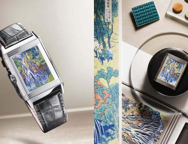 jaegerlecoultre reverso tribute enamel hokusai kirifuri waterfall 600x460 - 难度极高的珐琅微绘!积家生动再现东方著名木刻版画