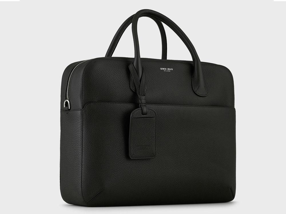 ks select best business briefcase giorgioarmani tumbled leather 02 - K's Select|实用有型!10款精品公事包推荐