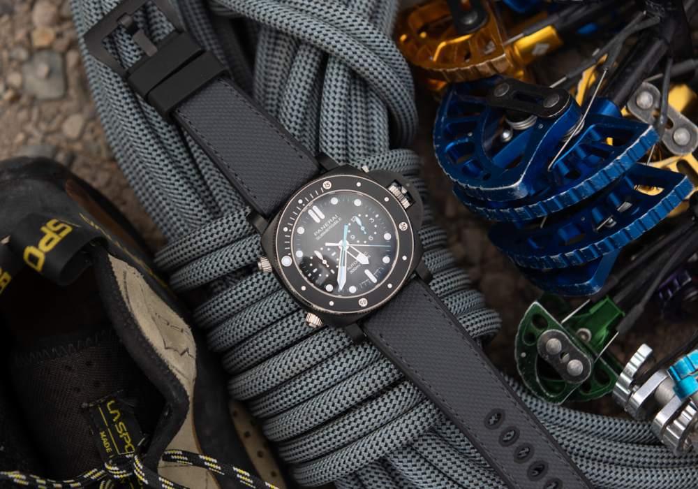 panerai jimmy chin submersible chrono flyback 003 - Panerai 推出两款品牌大使 Jimmy Chin 限量版腕表