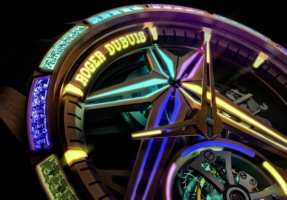 "roger dubuis excalibur single flying tourbillon glow me up 002 - Roger Dubuis ""超表"" 新境界:Excalibur系列单飞行陀飞轮腕表"